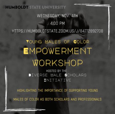 Diverse Male Scholars Initiative Nov. 4 Workshop