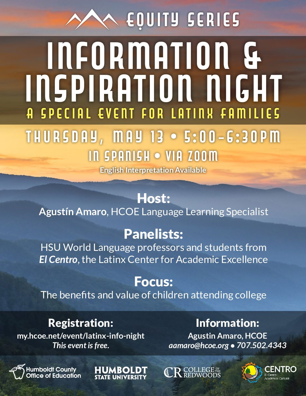 Spanish College Information Night May 13